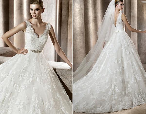 Модный портал. свадебные платья кружевные, фото - Все о моде