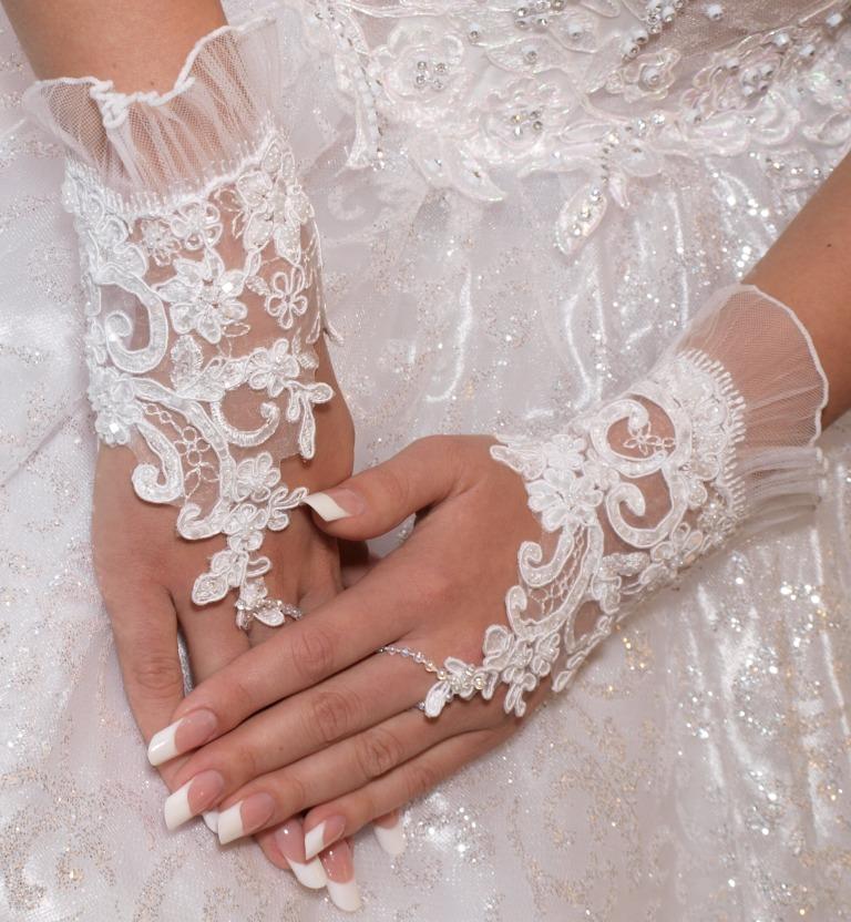 Свадебное перчатки своими руками