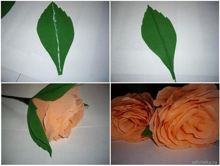 Простые листочки из бумаги своими руками