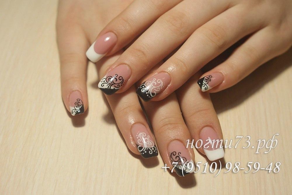 Дизайн с узорами на ногтях
