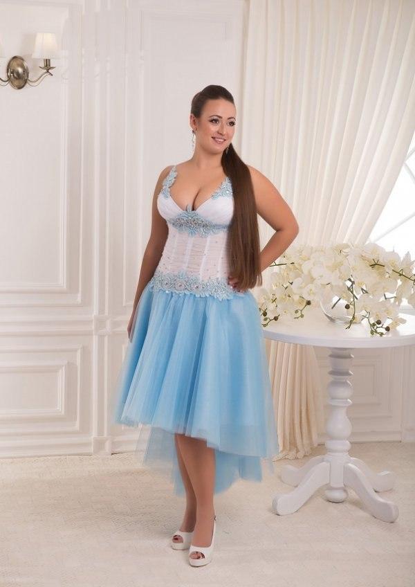 Выпускные платья голубые 2015
