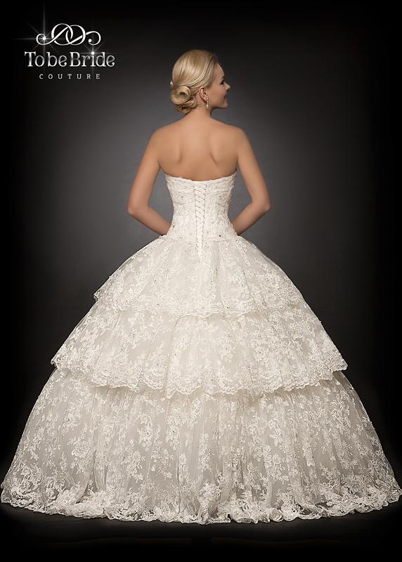 Свадебные платья пышные с кружевами 9
