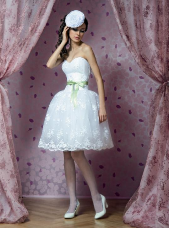 Свадебные платья цветные короткие 6