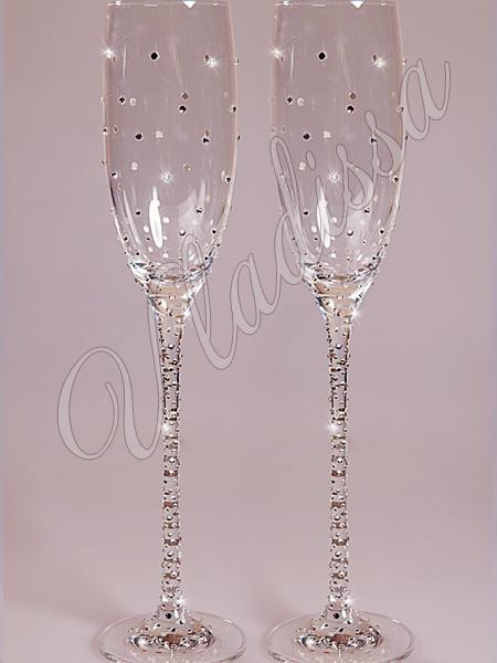 Как сделать своими руками на свадьбу бокалы