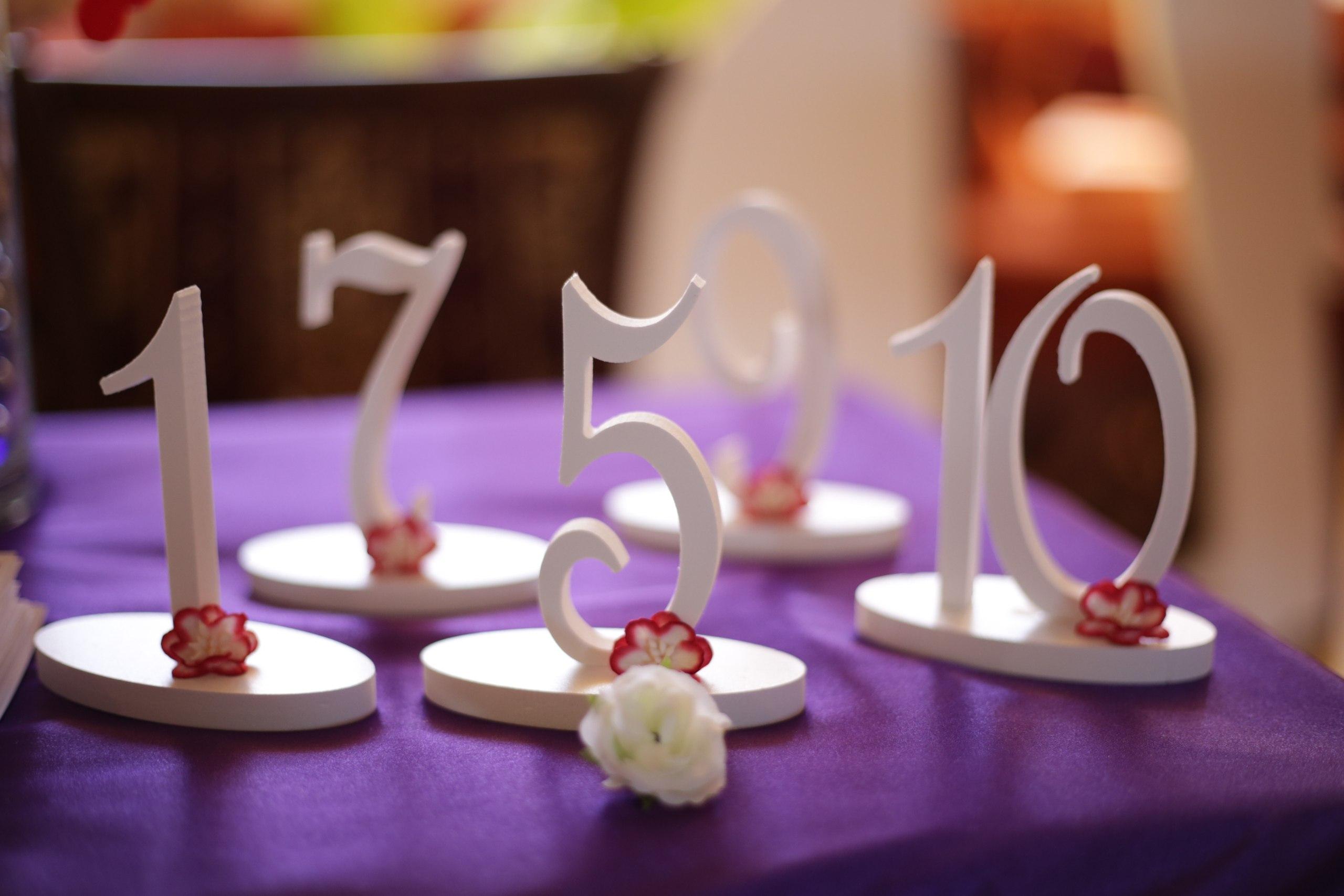 Цифры для свадьбы своими руками
