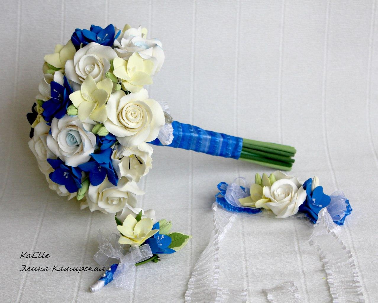 Как сделать букет невесты из живых цветов мастер класс