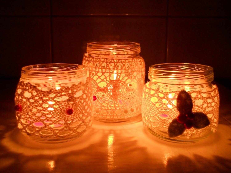 Свечи в банках своим руками