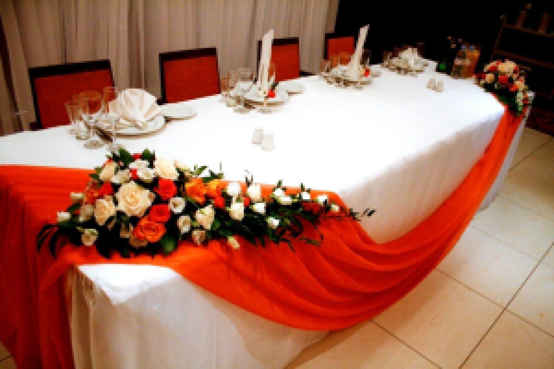 Украшение на стол свадебный фото