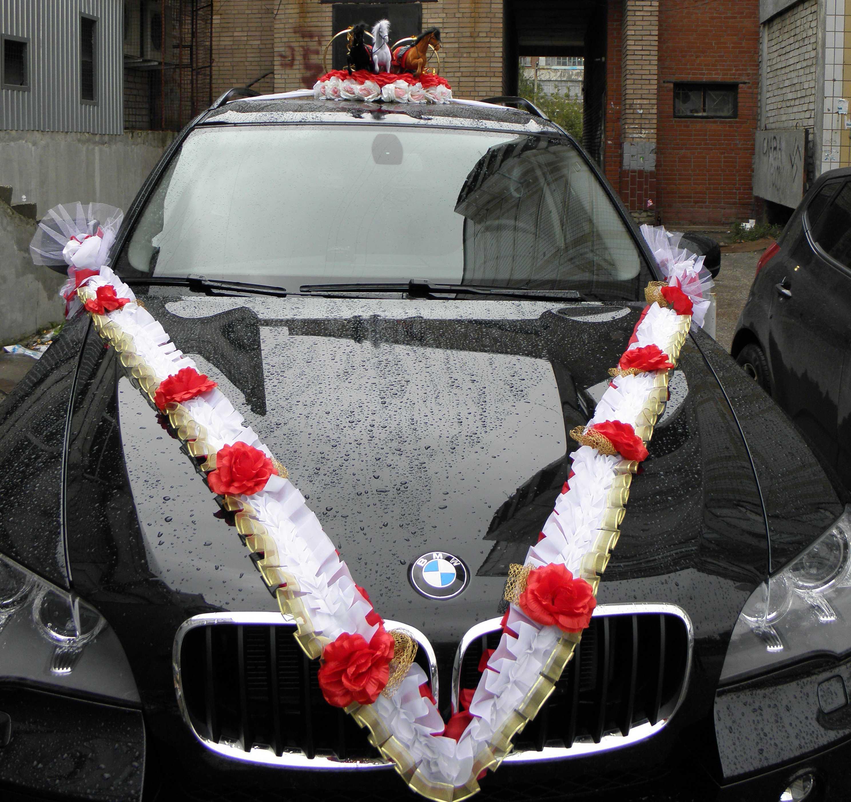 Пошаговое фото украшение свадебной машины