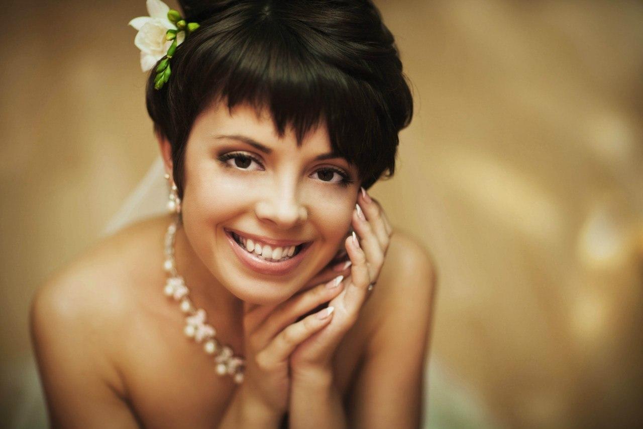 Невесты с короткими стрижками