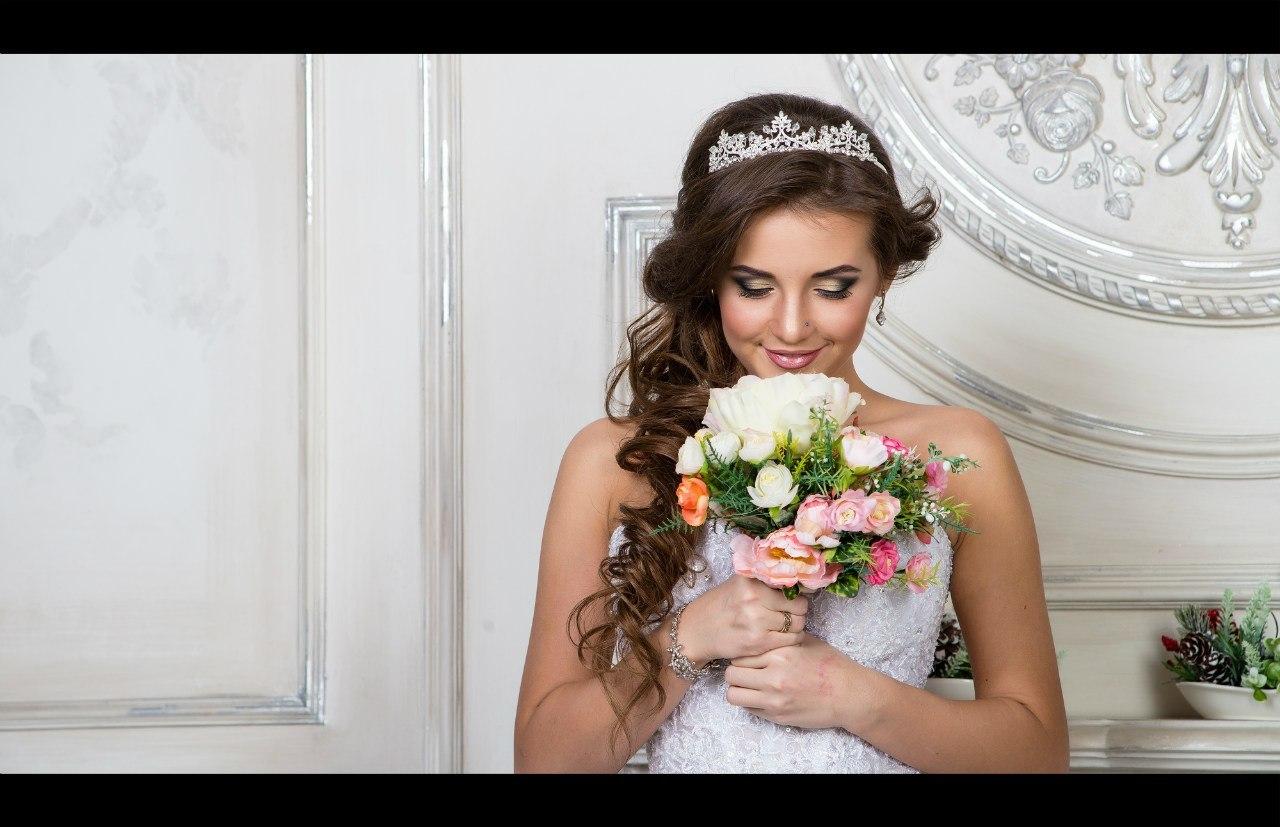 Свадебные прически фото трессы