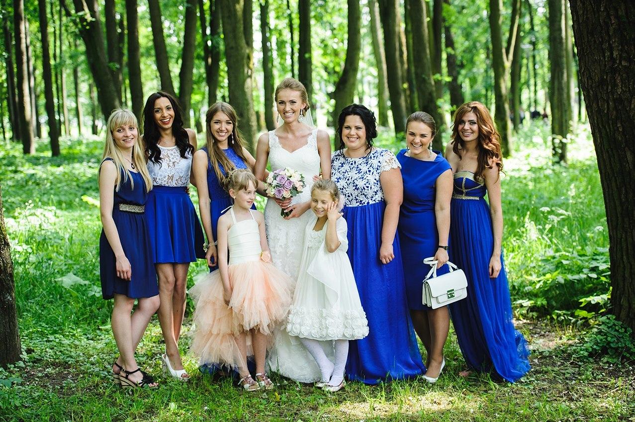 Свадьба подружки в синем фото