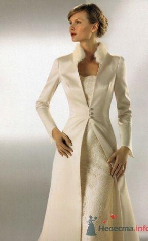 Светлое пальто на свадьбу для невесты. - фото 190 simik