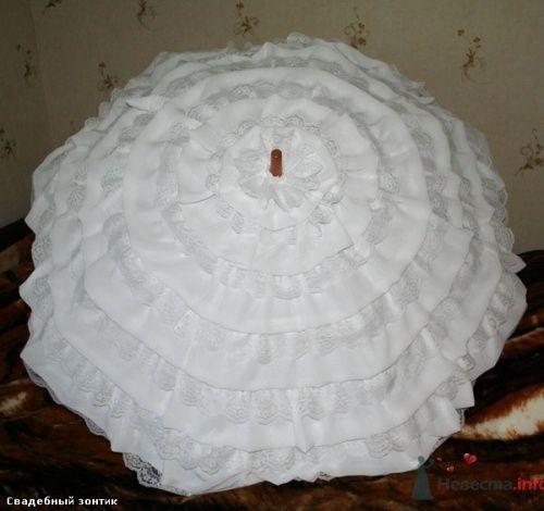 Красивый белый зонт для свадебной фотосъемки. - фото 196 Ночь'нушка