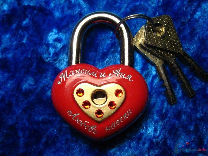 """Замочек любви """"Сердце"""" со стразами - фото 60905 """"Свадебный Бум"""" - свадебные принадлежности"""