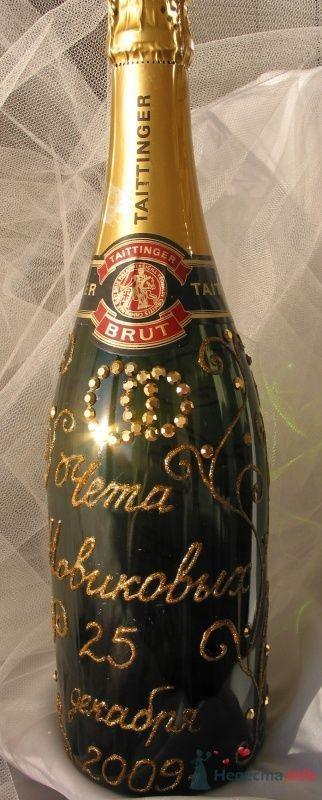 """Роспись на шампанском - фото 66808 """"Свадебный Бум"""" - свадебные принадлежности"""