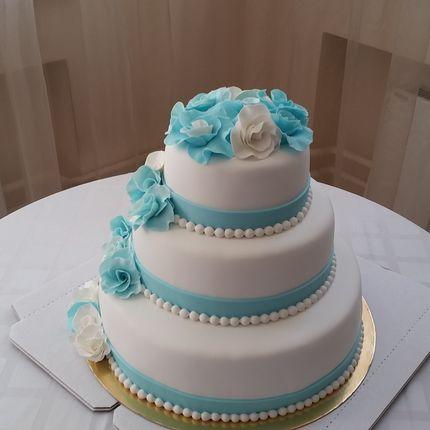"Трехъярусный торт ""Голубая лагуна"", 1 кг"