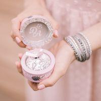 Шкатулка с кольцами в карамельно-розовых тонах