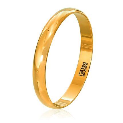 Классическое обручальное кольцо из жёлтого золота, ширина 3 мм