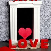 Сердца и буквы из пенопласта