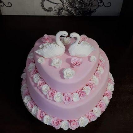 Торт с лебедями, от 6 кг
