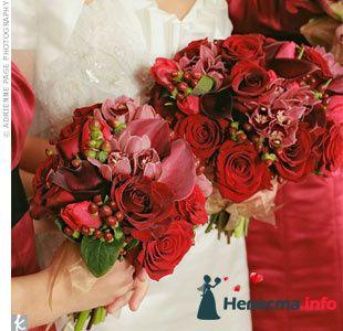 Фото 90093 в коллекции Букет невесты, подружек, и бутоньерка жениха!