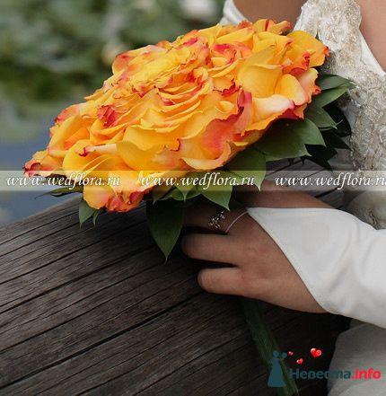Фото 90099 в коллекции Букет невесты, подружек, и бутоньерка жениха!