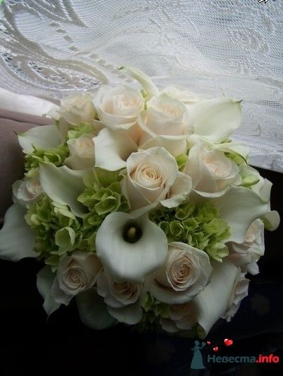 Фото 90196 в коллекции Букет невесты, подружек, и бутоньерка жениха!