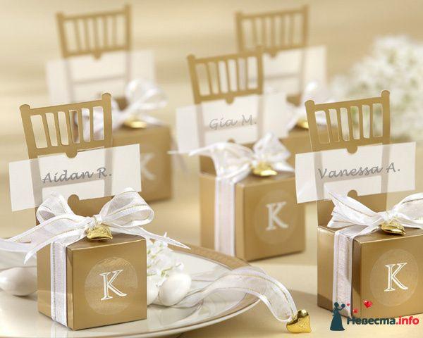 Бонбоньерки - золотые стулья - фото 80959 Yatsan