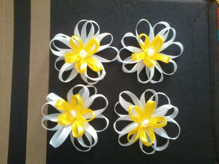 Цветок из светоотражающей ленты своими руками 65