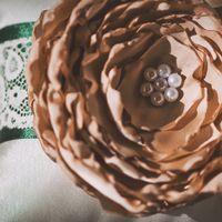 Подушечка для колец в зелёно-коричневых тонах