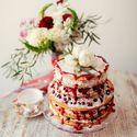 торты красное оформление свадьбы  букеты макияж невесты платье невесты бохо стиль
