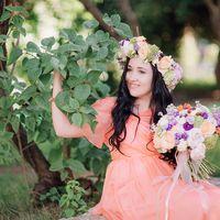 цветы, букет, свадебный букет, невеста, бабочка жениха, лав стори, венок, невеста ,жених, оранжевый цвет, сиреневый цвет, love story