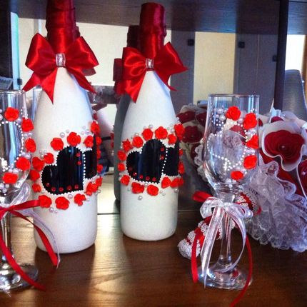 Свадебный набор на стол молодоженов