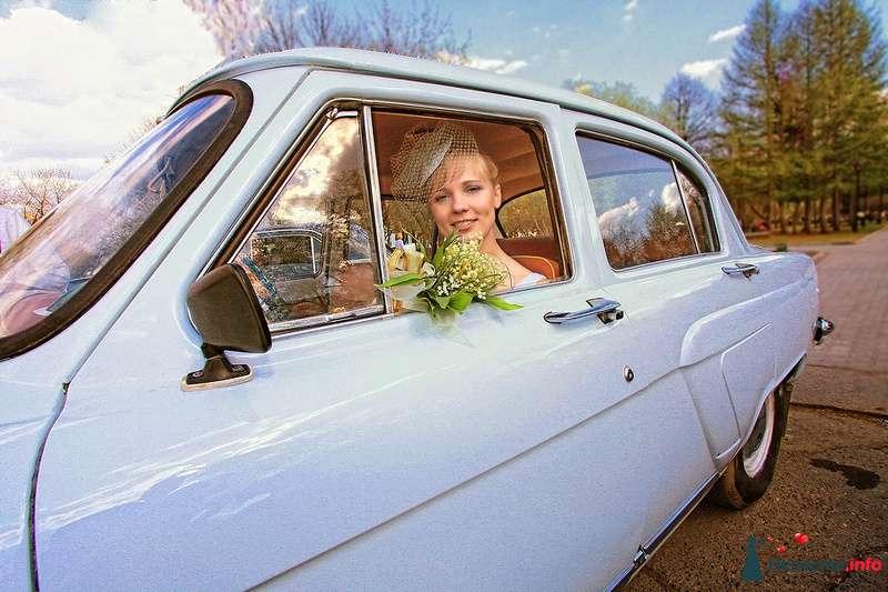 """Невеста в белой """"Волге"""" на фоне осеннего пейзажа. - фото 99449 Фотограф Анастасия Яценко"""