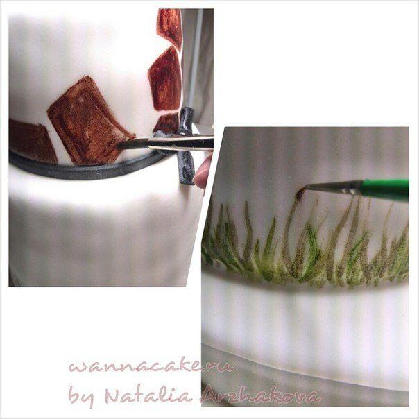 """Как делался торт """"Жирафы"""" - фото 3623531 Свадебные торты от Наталии Аржаковой"""
