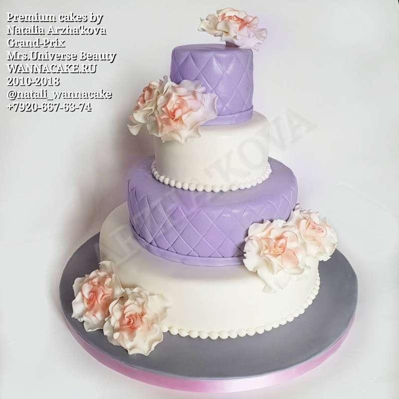 Фото 19046286 в коллекции Портфолио - Свадебные торты от Наталии Аржаковой
