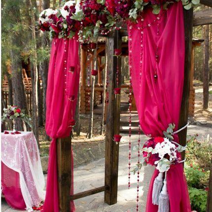 Оформление церемонии в цвете марсала