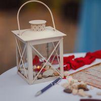 Декор выездной церемонии.Семейный очаг, стилизованный под корабельный фонарь. Белый цвет.