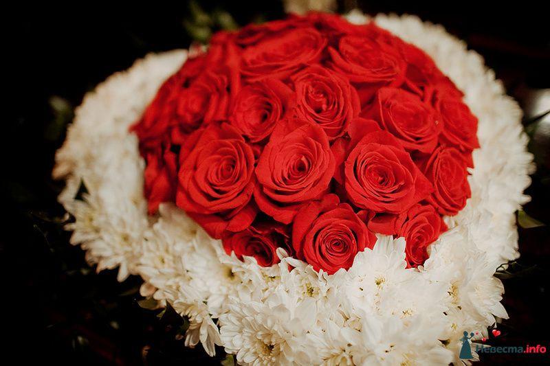 Букет невесты из красных роз и белых хризантем  - фото 88961 Свадебный фотограф. Татьяна Гаранина