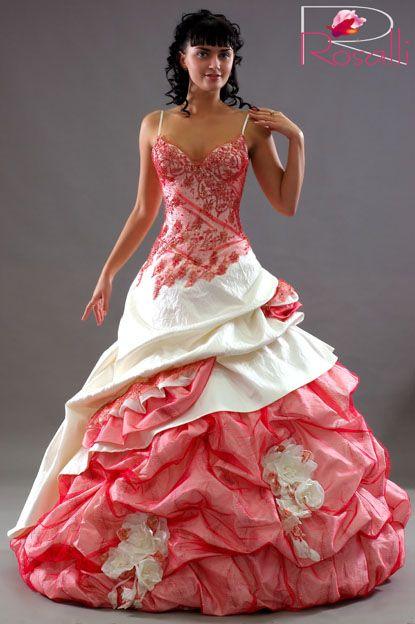 Розовые красные свадебные платья