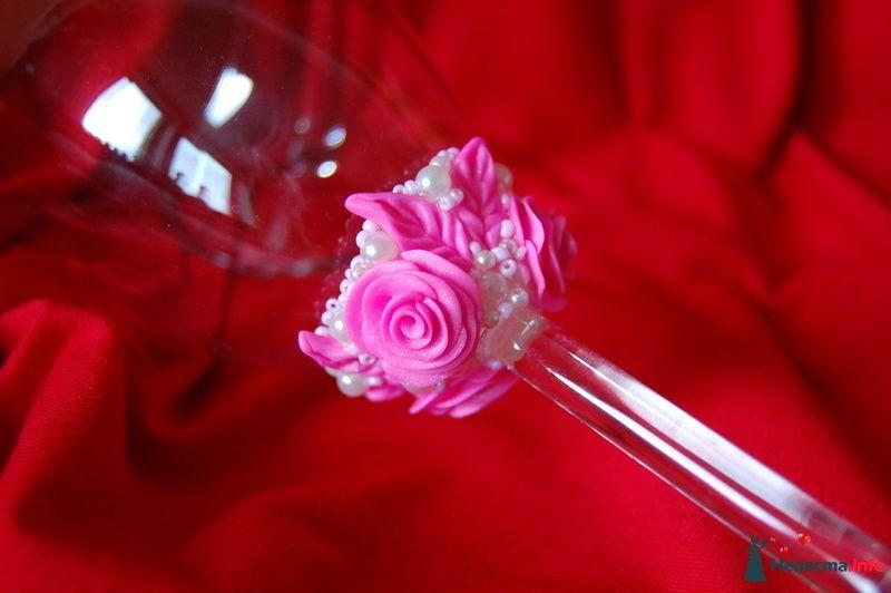 Фото 90826 в коллекции Свадебные бокалы с ручной лепкой!!!