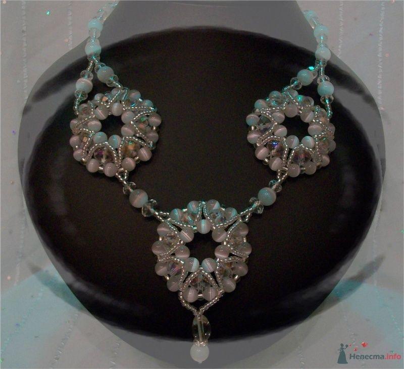 Ожерелье из Чешской фурнитуры и белого кошачьего глаза - фото 79275 Невеста01