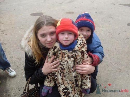 Я с племяшами !Машей и Димой  - фото 14197 оляшка
