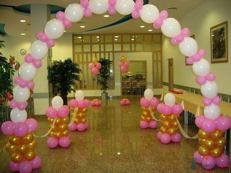 Фото 38713 в коллекции Украшение банкетного зала воздушными шарами