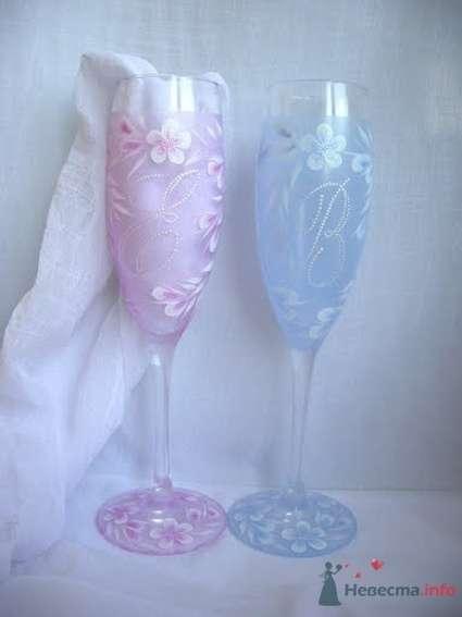 Фото 54470 в коллекции Ручная роспись свадебных бокалов - Дизайн-студия «Art-Infinity»