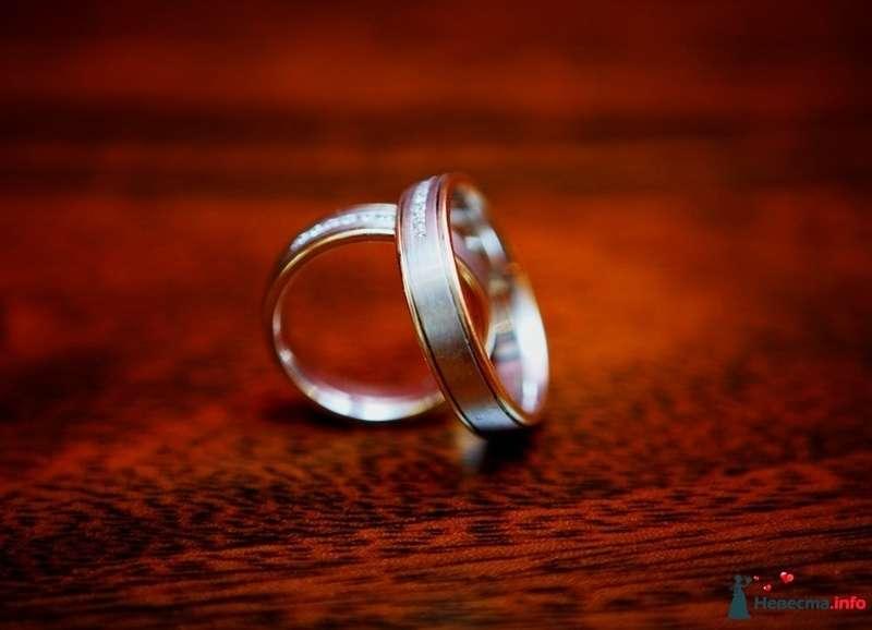 Золотые кольца с ободками, на фоне красной ткани. - фото 127981 Фотограф Андрей Вайман