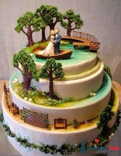 Фото 83098 в коллекции свадебные торты - Ленусечка