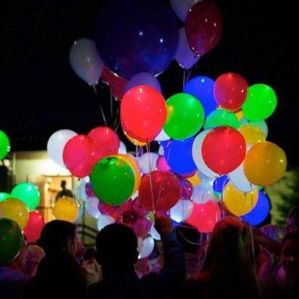 Салют из 100 светящихся шаров