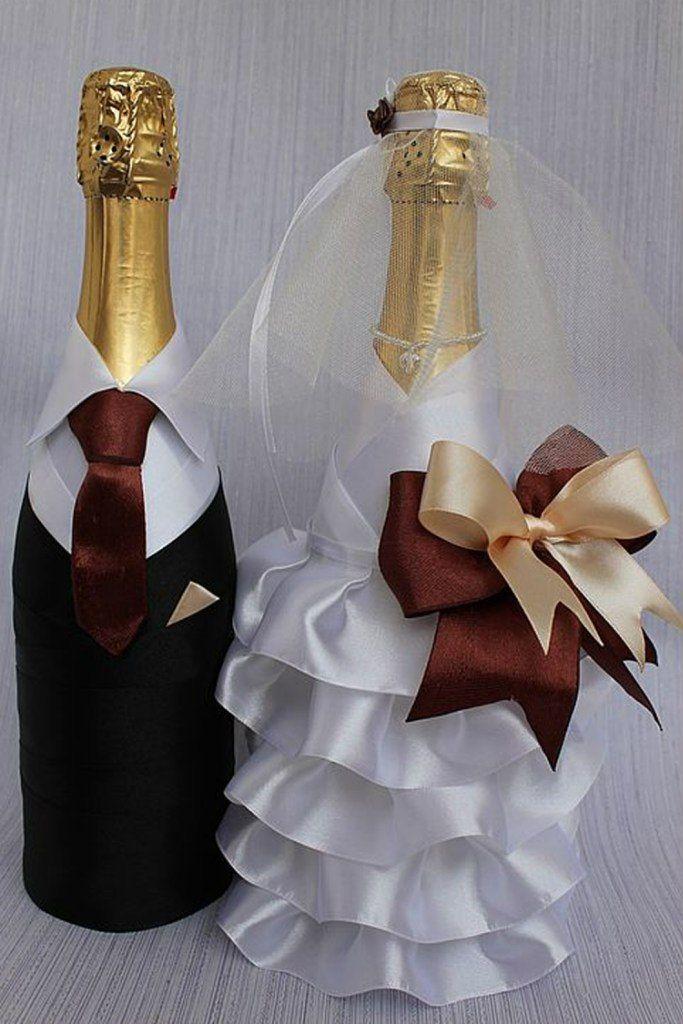 Декор свадебных фужеров для шампанского: красивые идеи!